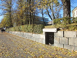 Ingången från Sahlgrensgatan vid Pedagogen