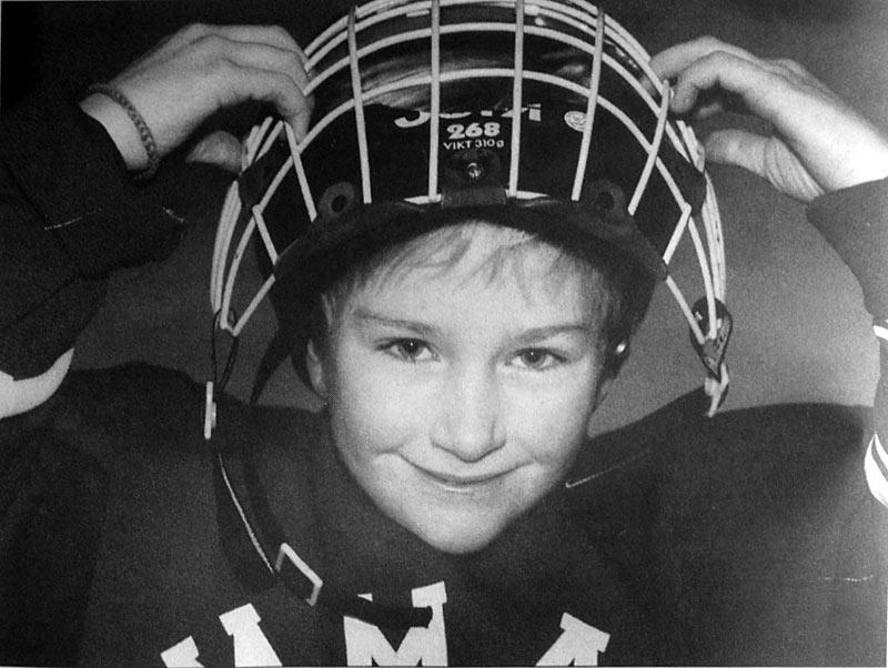 Kim Martin, 1996. Ur bildarkivet på HAMMARBYiten, HIF:s medlemstidning. Foto: Anders Kallersand