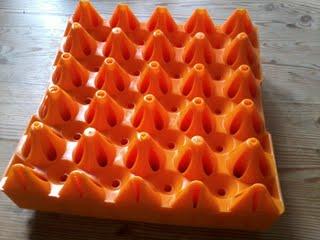 Äggbricka av plast för större ägg - Äggbricka för större ägg