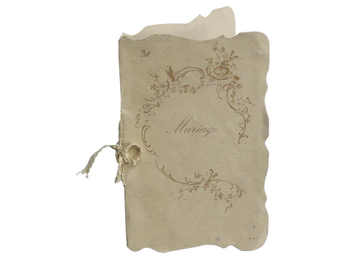 Bröllopskort mariage2