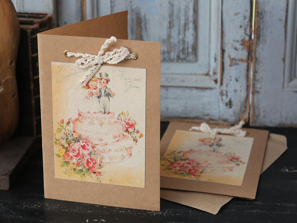 Bröllopskort tårta