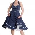Vanity dress - vanity blå/vit stl 2XL