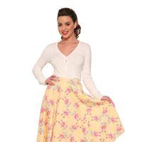 Flamingo Love kjol - flamingo love kjol stl 2XL