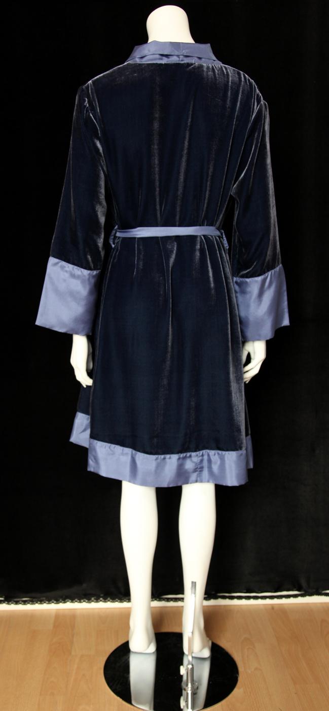Lydia kimono sammet blå bak