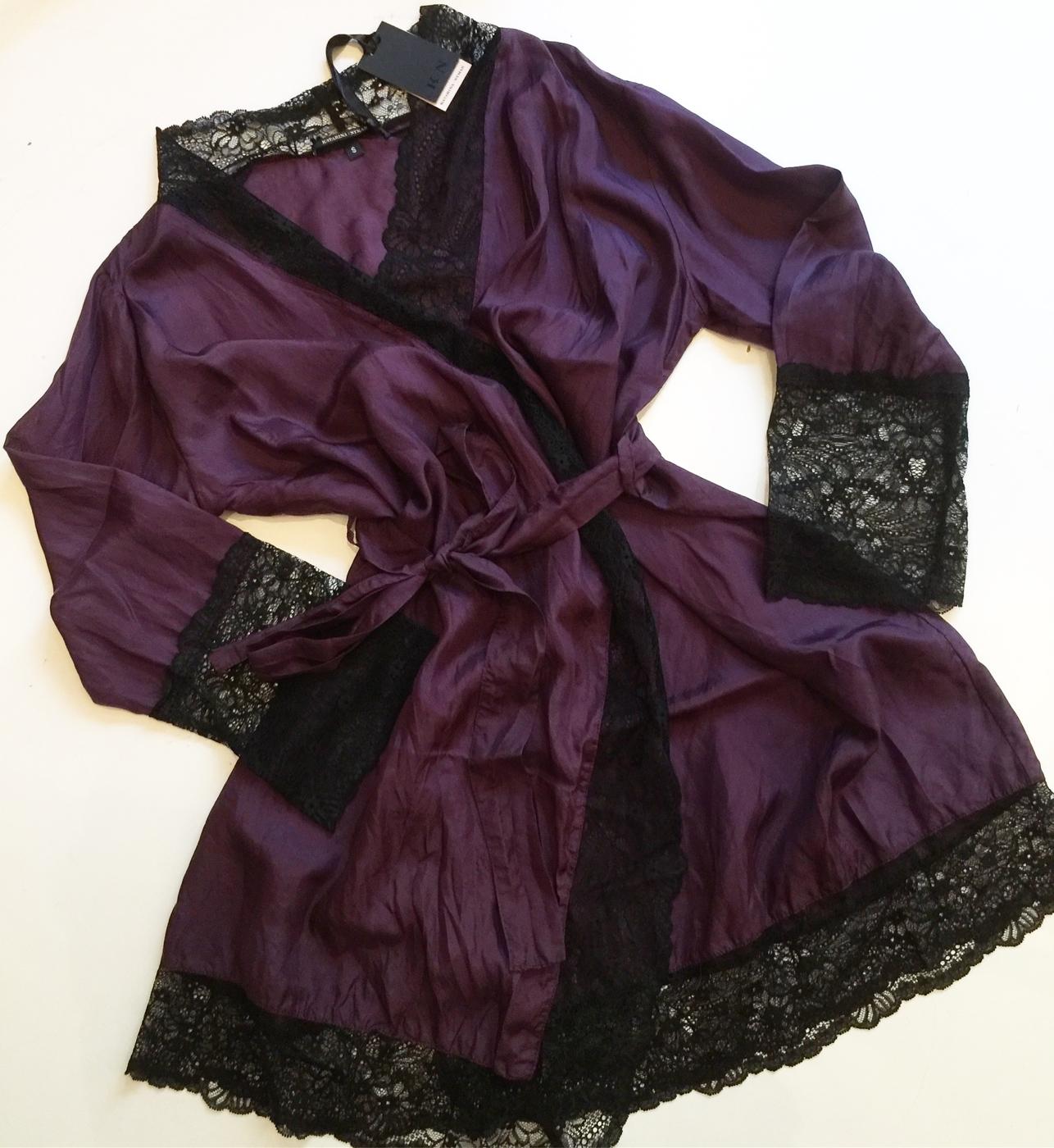 Lydia kimono lila/svart