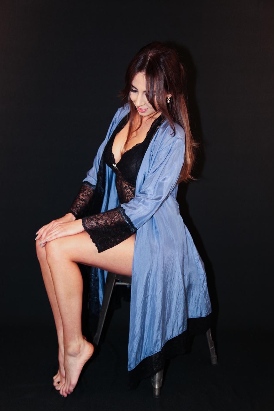 Lydia kimono blå/svart
