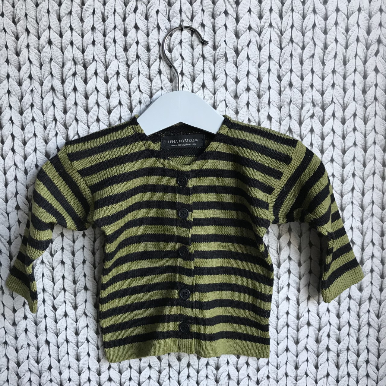 grön/svart kofta