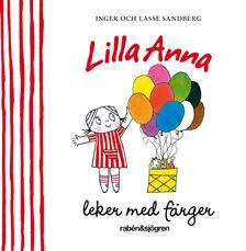 Lilla Anna leker med färger