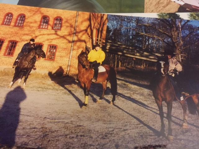 Chrille, Leffan och Daniella på en tur i soliga Bjärka Säby