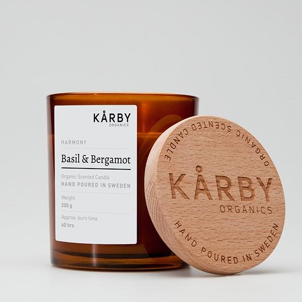 Kårby ekologiska doftljus basil&bergamott