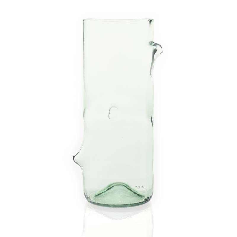 Jesper Jensen. Vaser återvunnet glas, liten light grön
