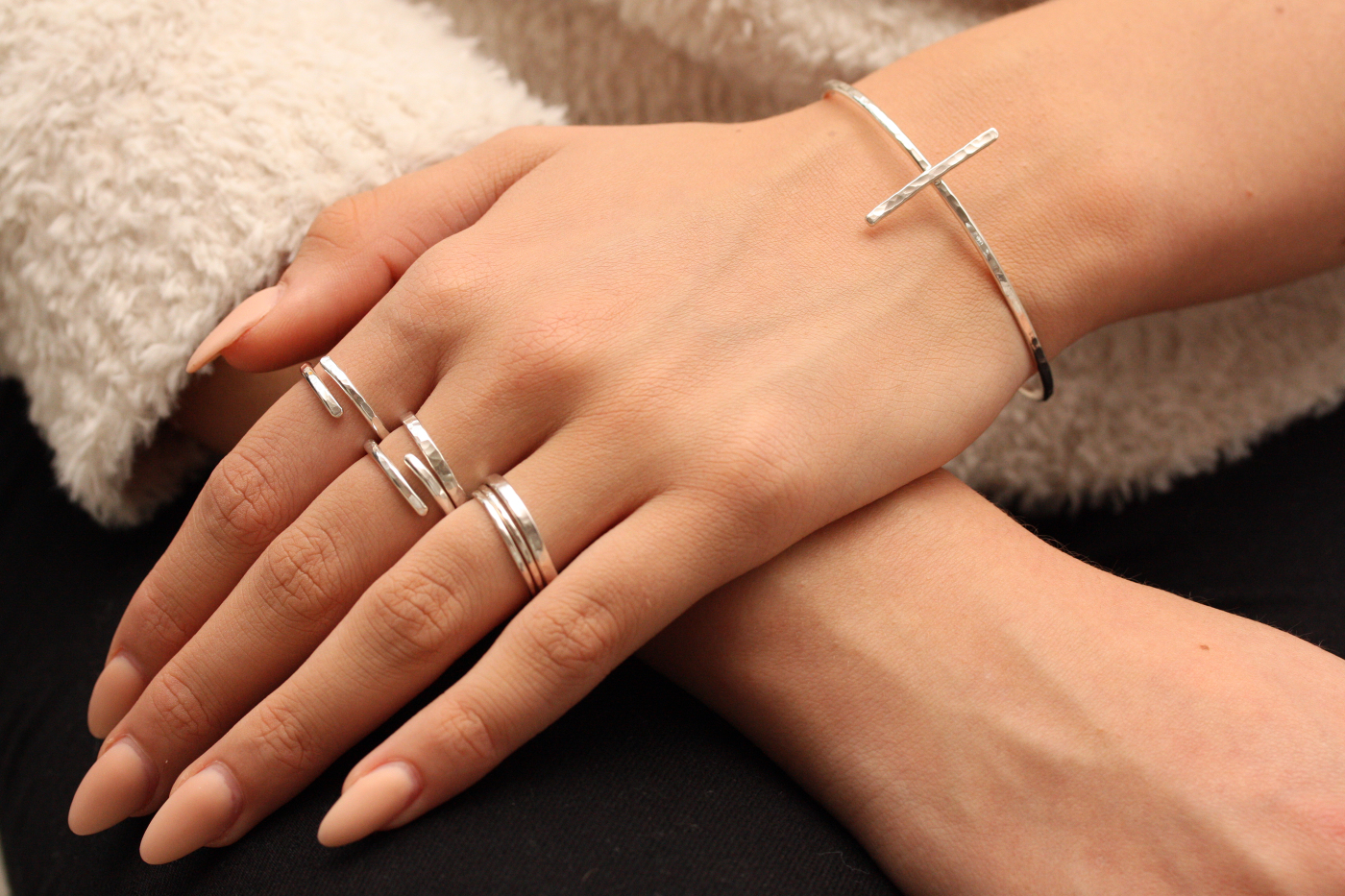 MNOP Armband återvunnet silver/ekosilver.