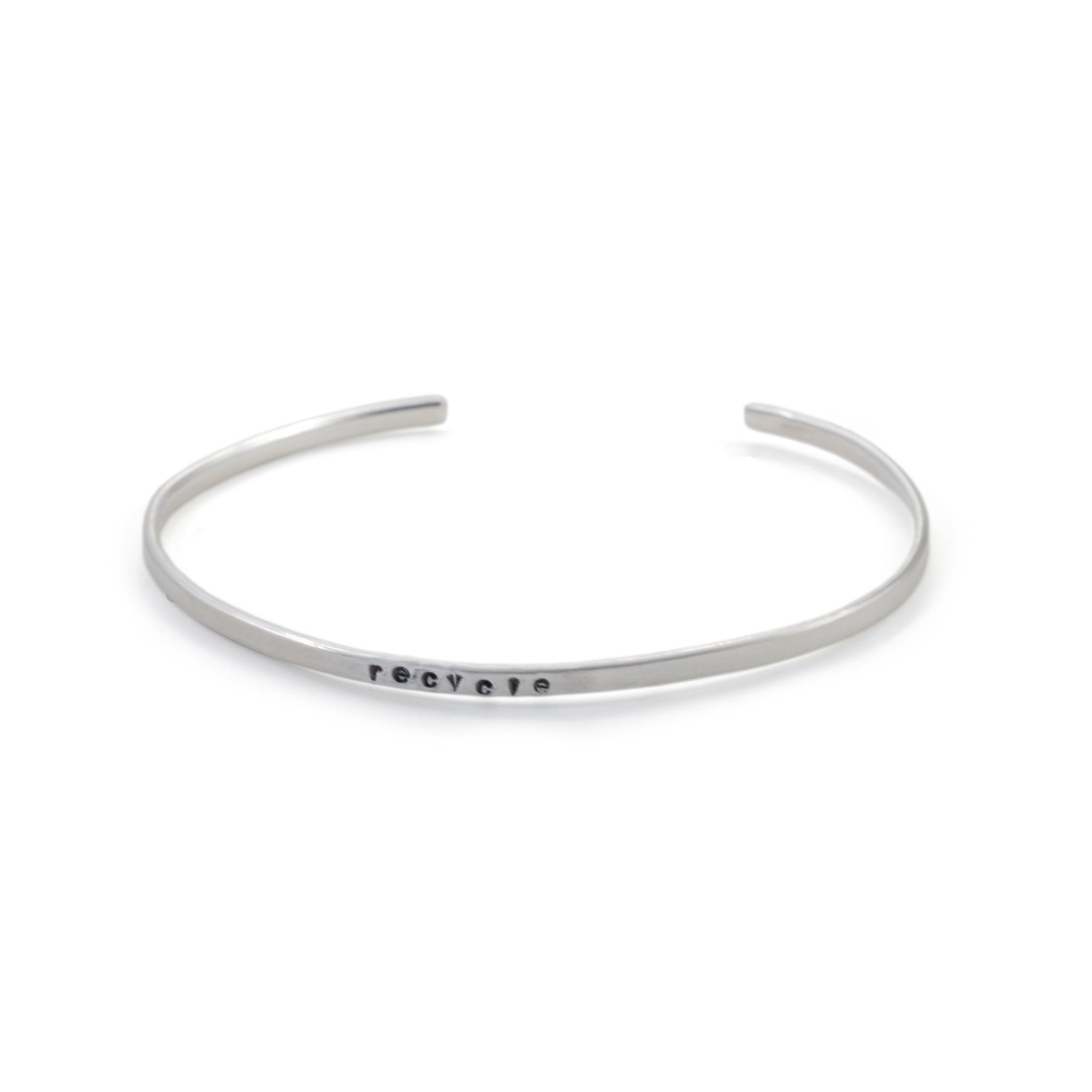 MNOP recycle armband. Återvunnet silver/ekosilver.