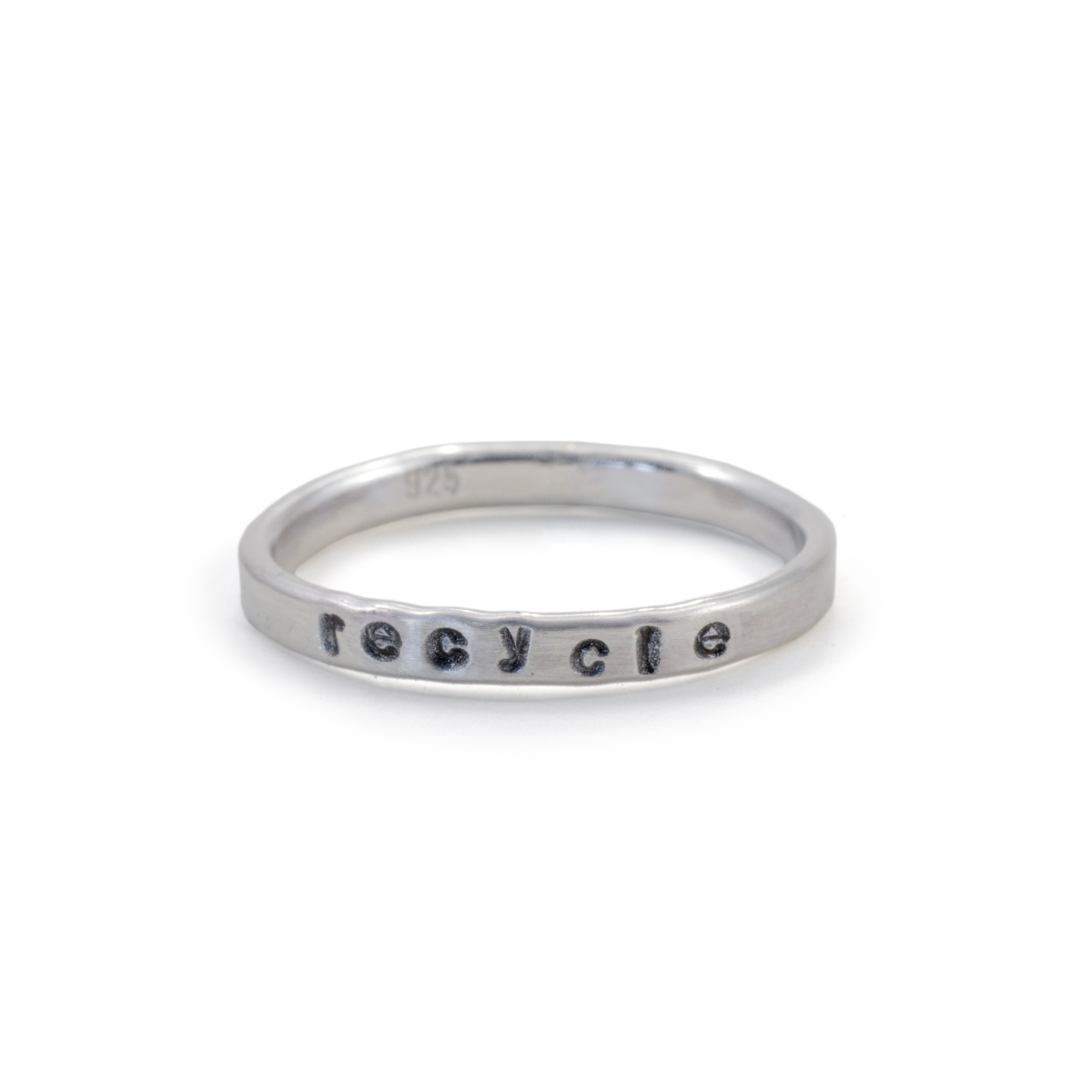 MNOP recycle ring. Återvunnet silver/ekosilver.