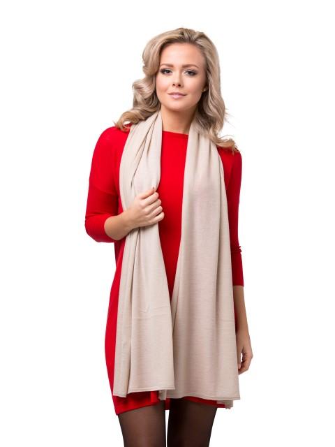 Summer scarf light beige