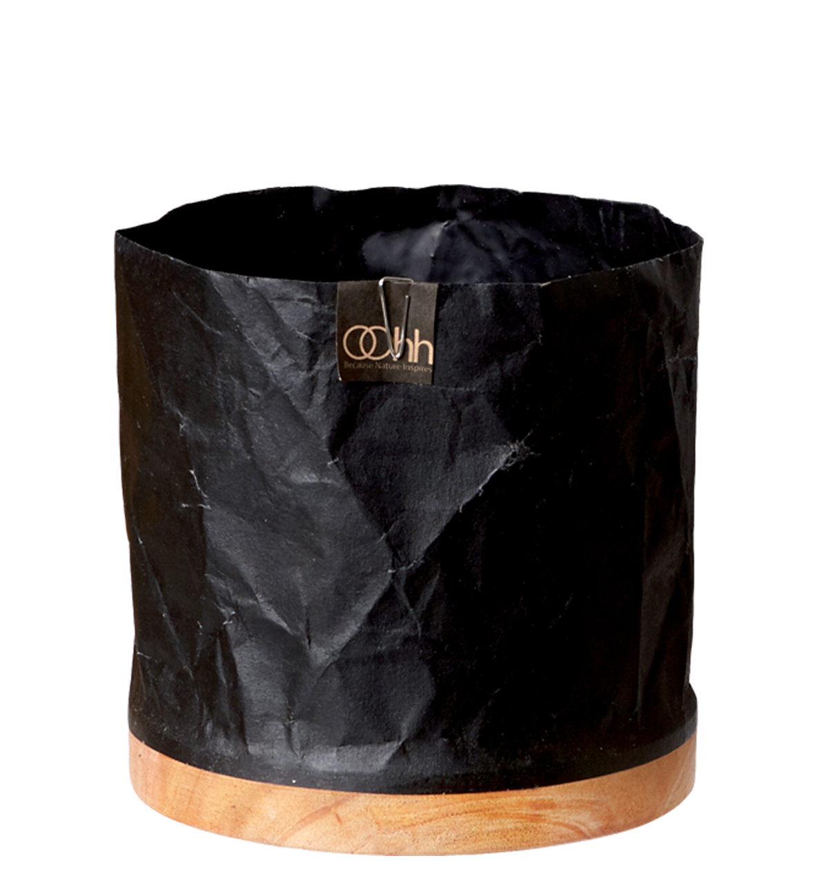 Oohh. Kruka återvunnet papper, svart.