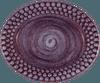 Mateus- Bubble Oval plate - mateu bubble oval platter 20 cm purple