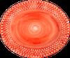 bubbles_plate_oval_20cm_orange