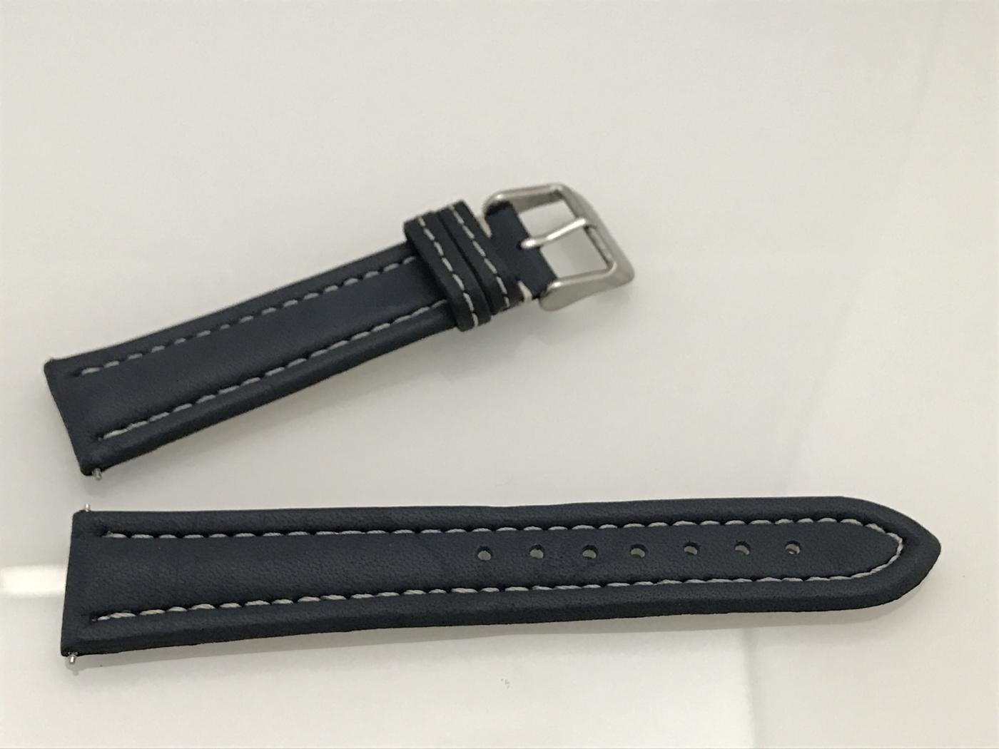 Blått klockarmband
