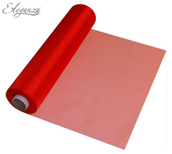 Organzatyg rulle 29cmx25m röd