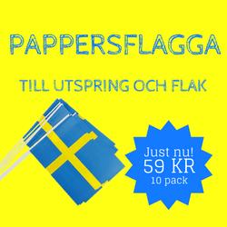 Pappersflagga till utspringet