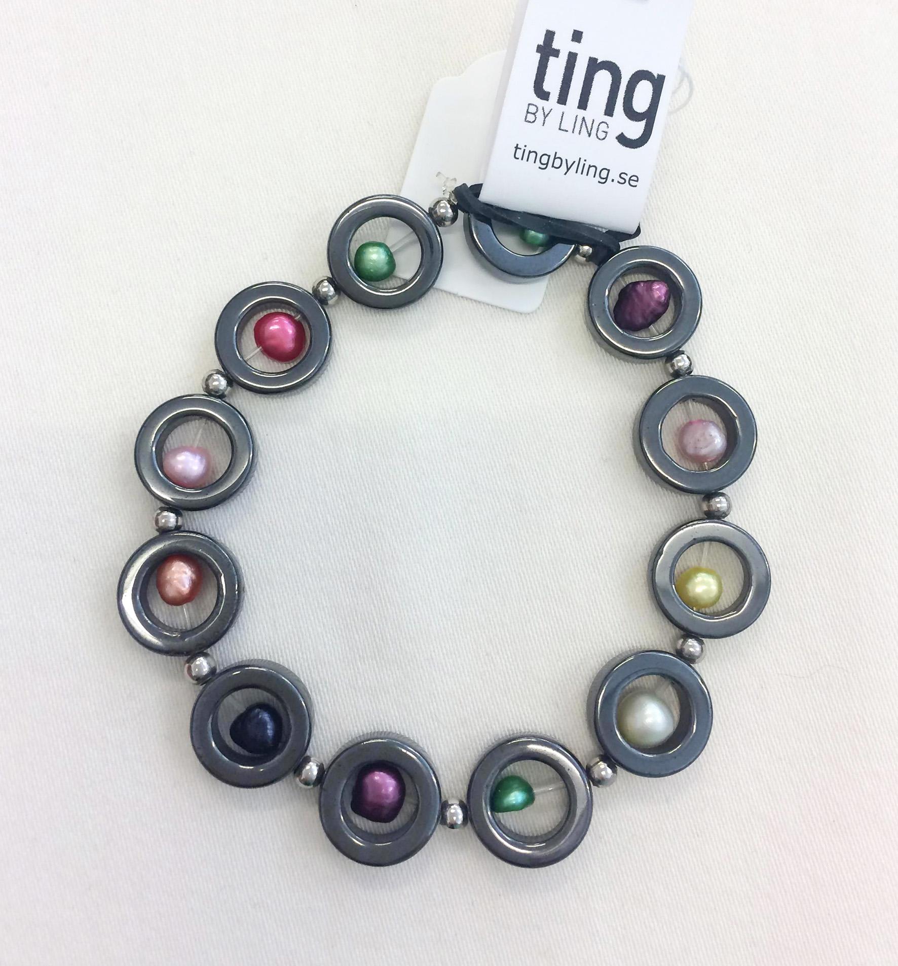 TL Armband hematit med pärlor