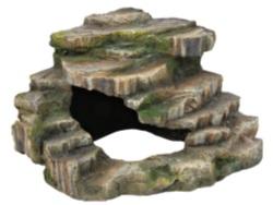 Hörnsten med grotta och plattform, 26 × 20 × 26