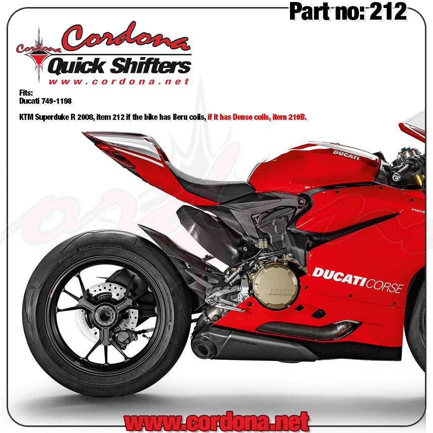 Cordona Quick Shifters 212B