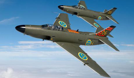 A32 F14 sista flygplan som slutade flyga då flotiljen lades ned 1961