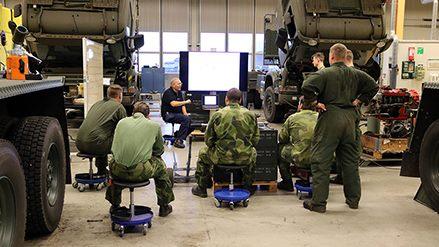 Teknik utbildning fordon pågår på FMTS Marksystem