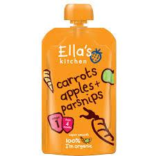 Ella's Puré Morot, Äpple & Palsternacka 120 g