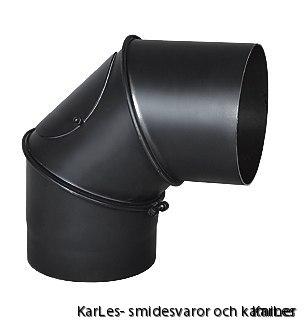 Kaminrör böj_vinkel rökrör_justerbar upp till 90° med sotlucka Ø130