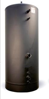 Ack-tank Ts750 med dubbla vv-slingor(9,5fv+15vv),Oisolerad,Mått(750x1925)