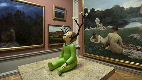 Fredrik Raddums The Child på Göteborgs konstmuseum.