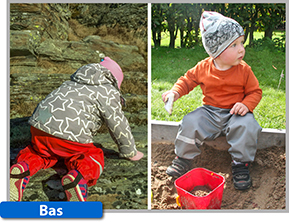 Överdragsbyxan Busbyxan Bas finns i 15 olika färger, i storlekar från 80-140 cl.