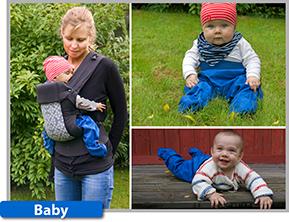 Busbyxan Baby håller de minsta barnen torra och skyddade, både i bärselen och när de vill börja krypa omkring på egen hand.