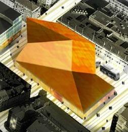 Bilden ovan är från Stadens Vision 2020 och den exemplifierar bra att det måste bli en byggnad som sätter Sundbyberg på kartan och bidrar till att göra stan till en intressant destination.