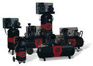 Kolvkompressorer i dimensioner för den mindre verkstaden upp till industrinivå. Finns även i högtrycksutförande.