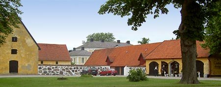 Börringekloster bild på gården