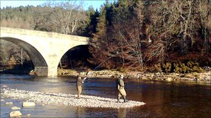 Fiona Armstrong made the first catch on the Dee at Potarch