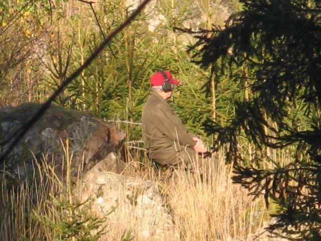 Alf på pass.Han har också jagat sen 40-talet.