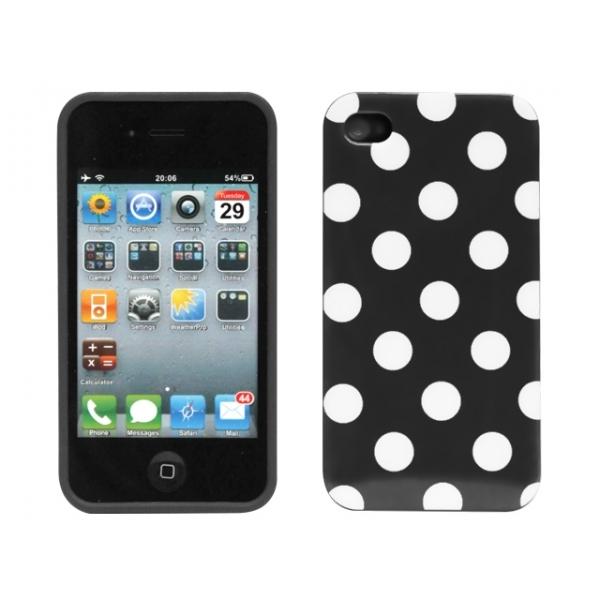 iphone-4-4s-polka-skal-svart-vita-prickar