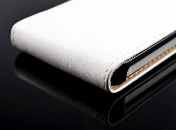 lyxigt-flip-fodral-lader-iphone-5-vitt