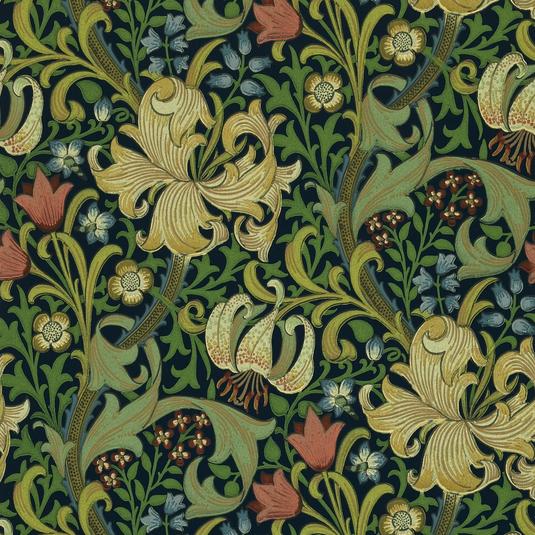 Golden Lily Vintage Mörkblå S