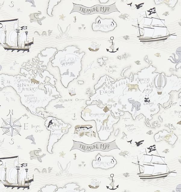 Treasure map Grå L