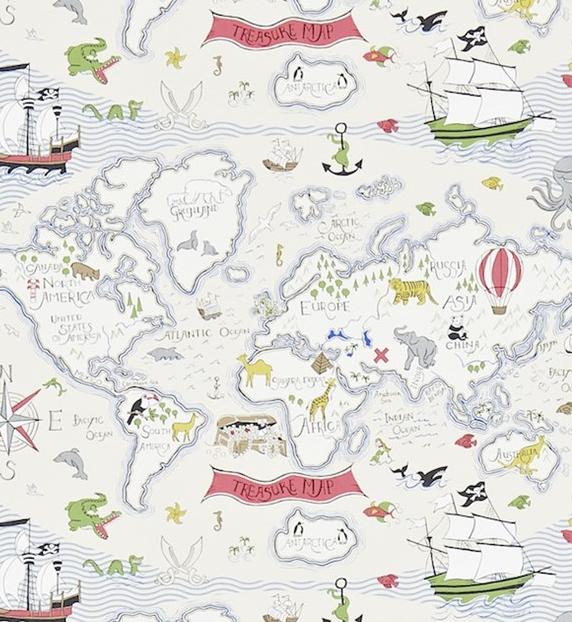 Treasure map Ljusblå L
