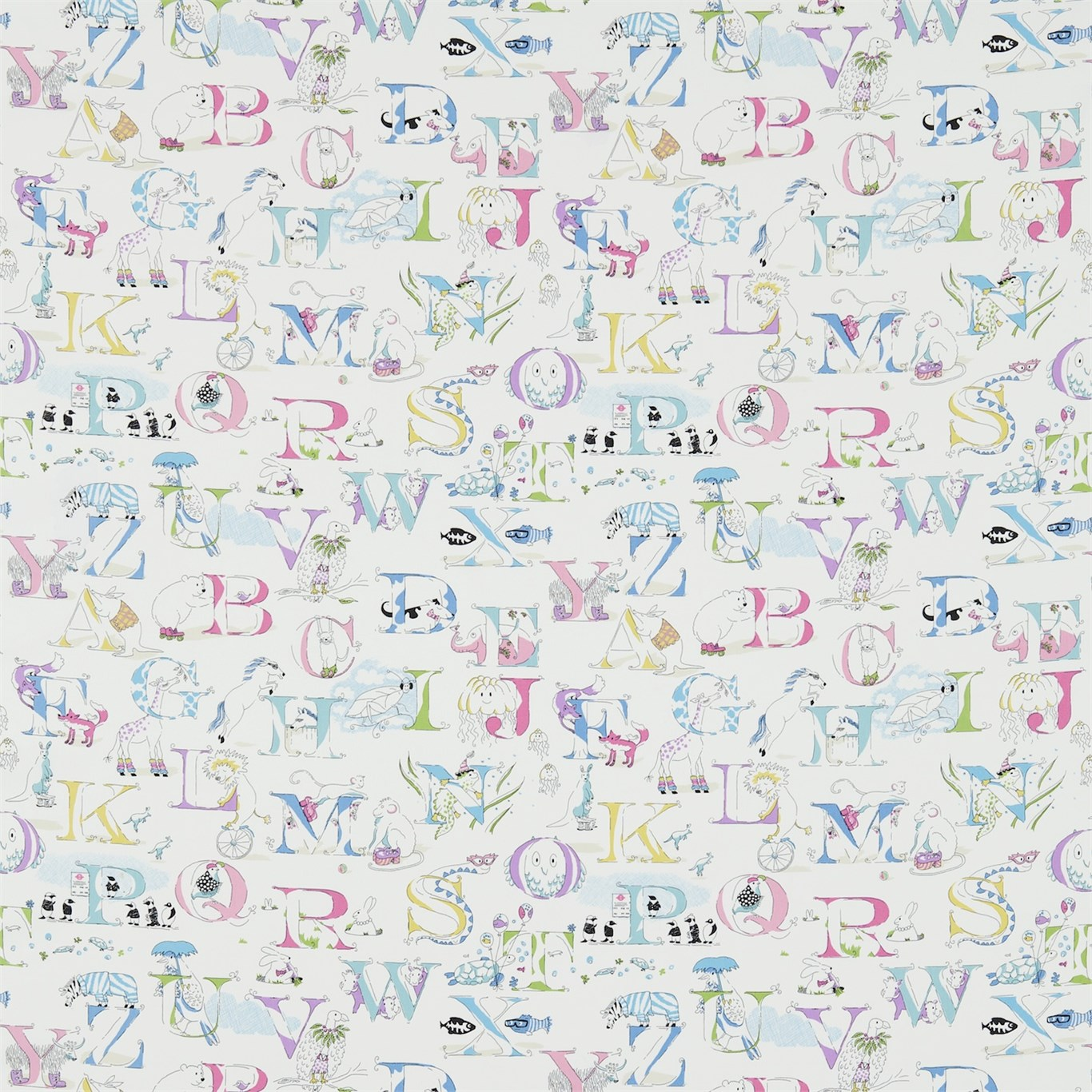 Alphabet zoo Pastell Multi