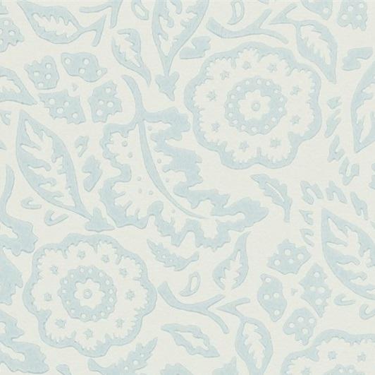 EB Tapet Floral Damask Ljusblå L