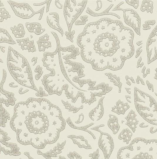 EB Tapet Floral Damask Silver L