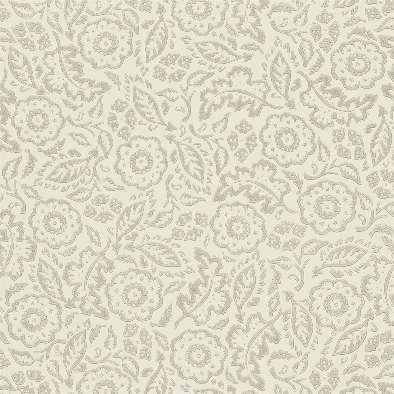 EB Tapet Floral Damask Silver